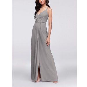 David's Bridal Mercury Bridesmaid Dress